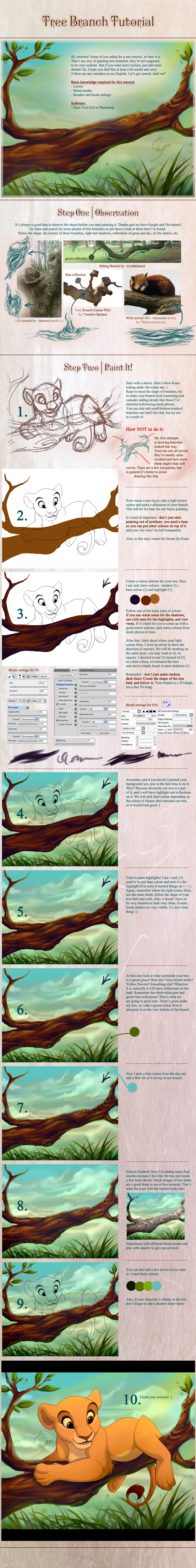 Tree Branch Tutorial for PS and SAI
