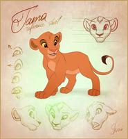 Tama Reference Sheet by EmilyJayOwens