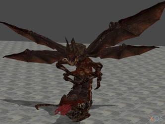 Resident evil 5 Popokarimu (Giant bat boss) by Rabbid013