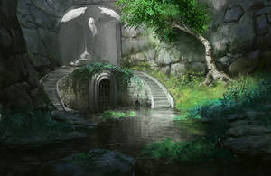 The flooded passage by Cashmatee