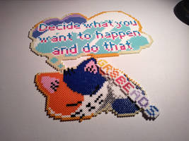 Sleeping Cat Steven with quote by Gr8Beads