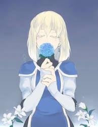 Suikoden 3 - Blue Hydrangea by betsuni