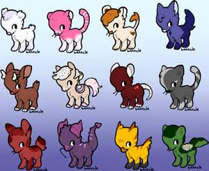 Small animal adoptables (12/12 Open)