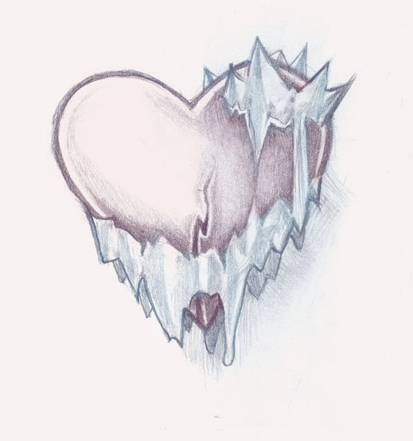 ice heart tattoo by timmok on deviantart. Black Bedroom Furniture Sets. Home Design Ideas