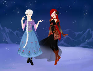 Lian and Rose in Frozen