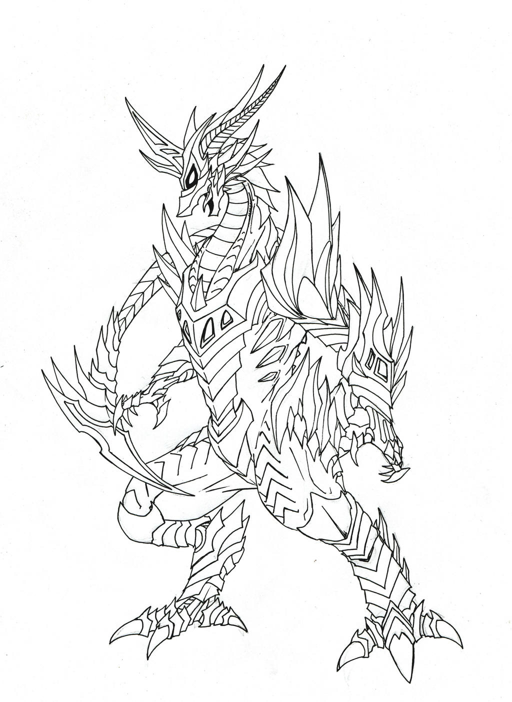 Line Art Dragon : Dragon stearthagon lineart by phantom on deviantart