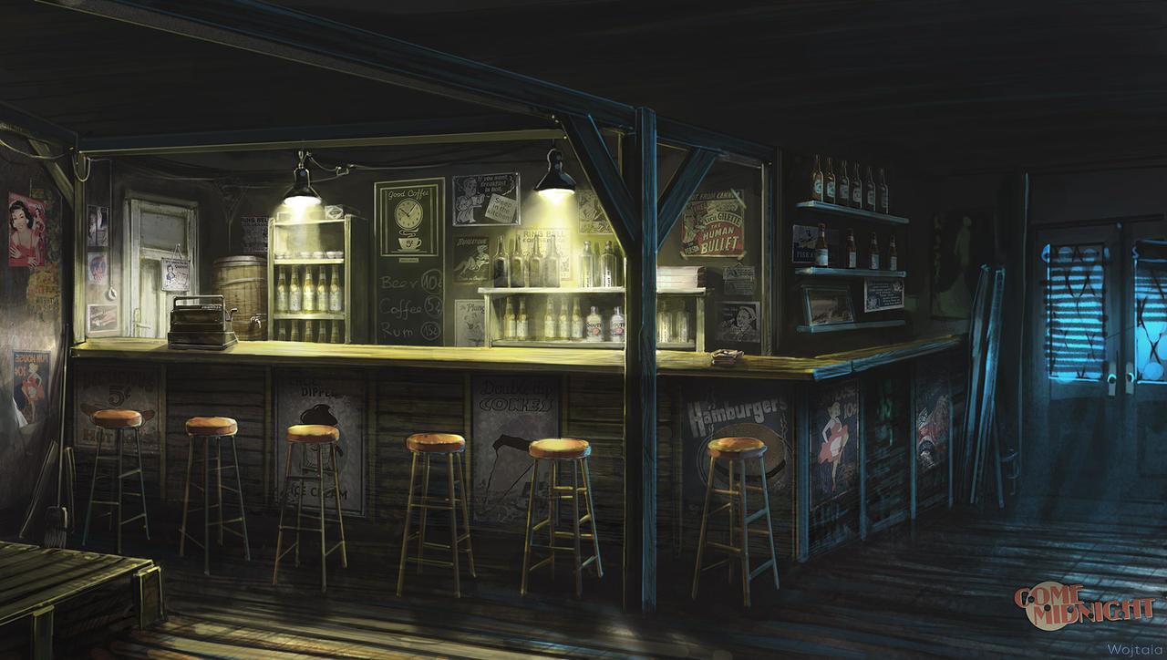 Motel bar by M-Wojtala