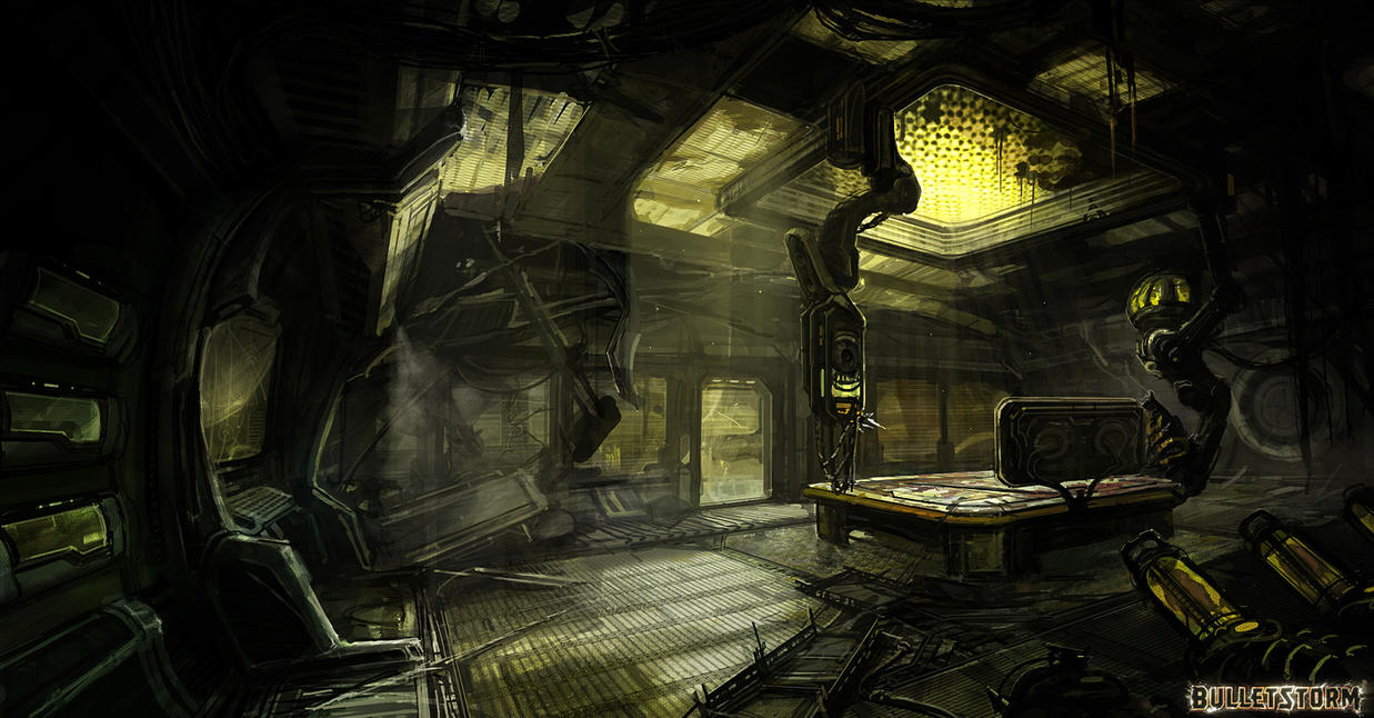 Spaceship interrior by M-Wojtala
