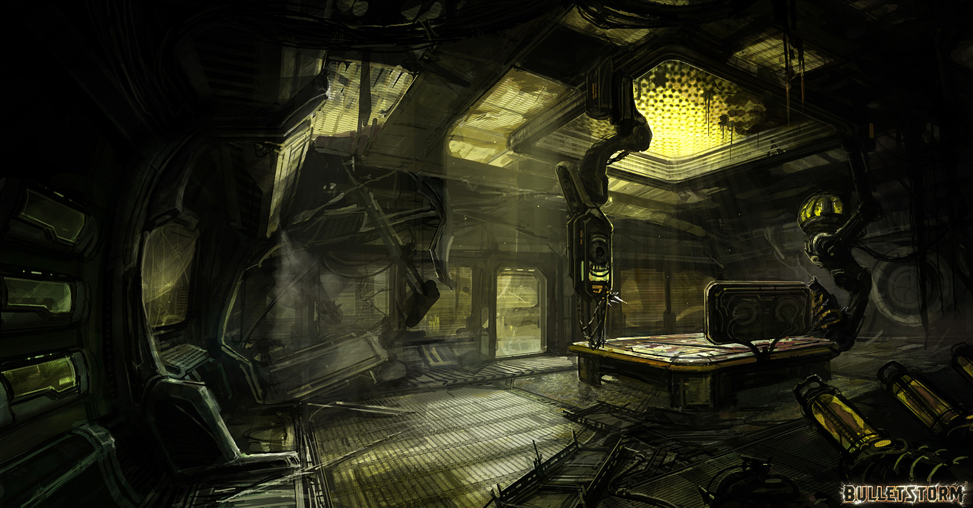 spaceship interrior by m wojtala on deviantart. Black Bedroom Furniture Sets. Home Design Ideas