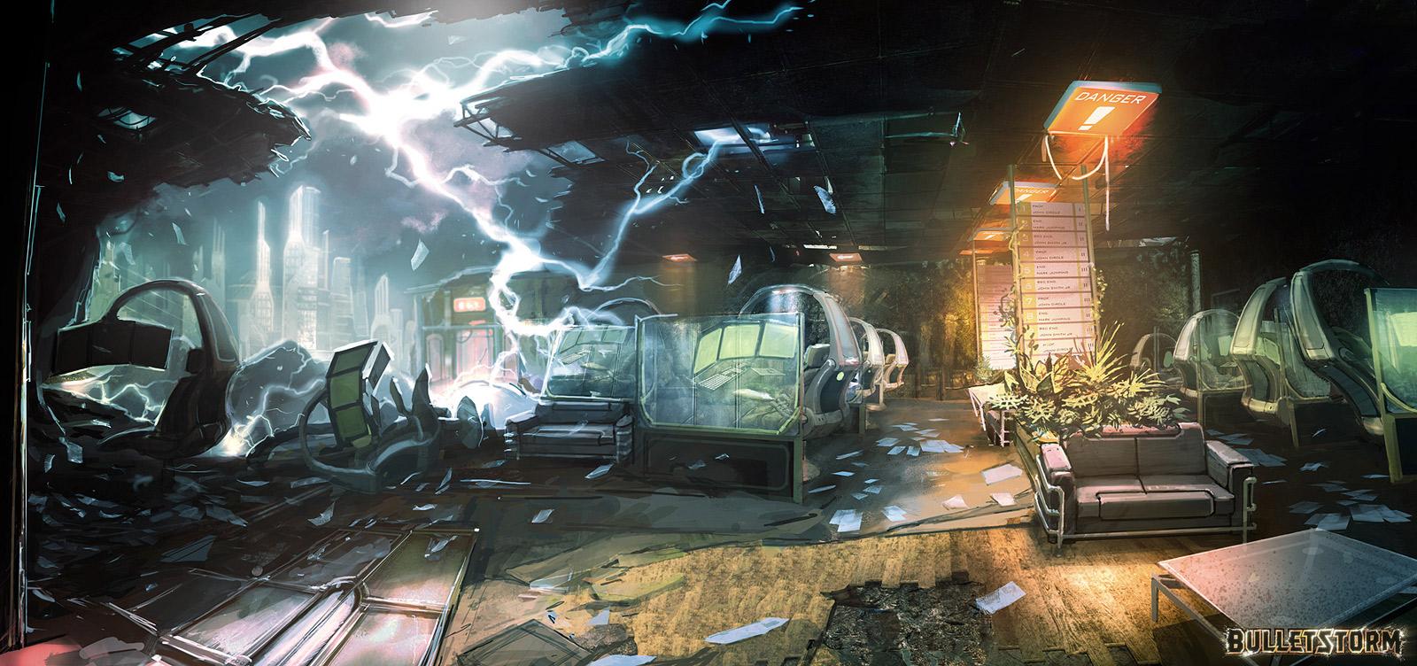 Destroyed office by M-Wojtala