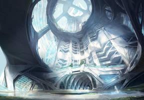Skyscraper interior concept by M-Wojtala