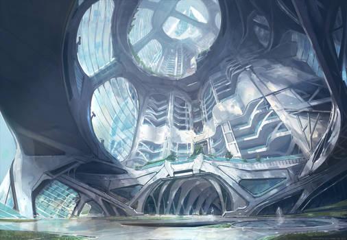 Skyscraper interior concept
