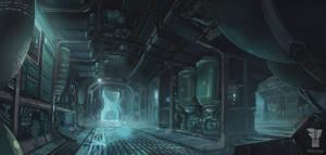 Spaceship Corridor by M-Wojtala