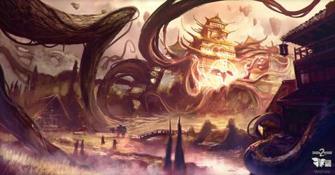 Shadow Warrior 2 | Shadow World merge concept by M-Wojtala