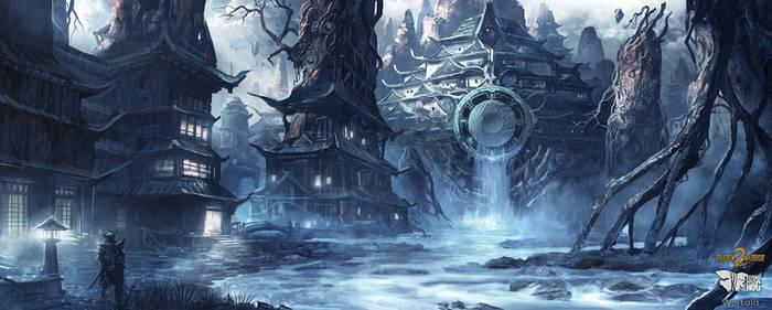 Shadow Warrior 2 : Ancient in rain by M-Wojtala