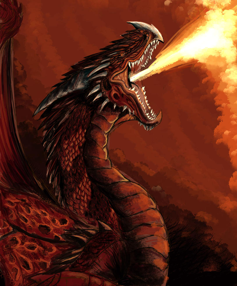 Evil Fire Dragon: Fire Dragon [Speeddrawing Link In Description] By