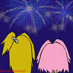 DeiSaku: Fireworks by BloodBlossoms13