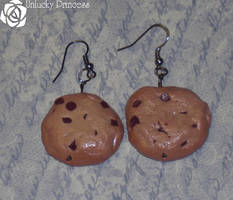 Chocochip Cookie Earrings by UnluckyPrincess