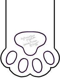 Cat Paw Stocking Pattern by UnluckyPrincess