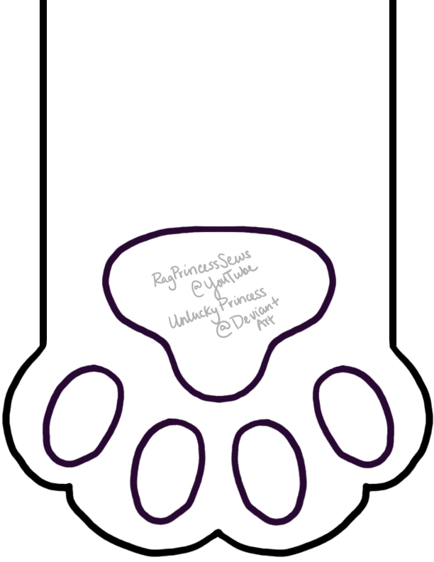 Cat Paw Stocking Pattern by UnluckyPrincess on DeviantArt