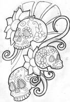 Mexican Sugar Skull Sleeve