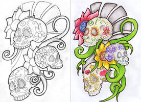 Mexican Sugar Skull REDUX by filly4585