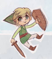 The Legend of Zelda - Toon Link by papelmarfil