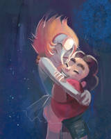 Steven Universe - Pearl's Hug by papelmarfil