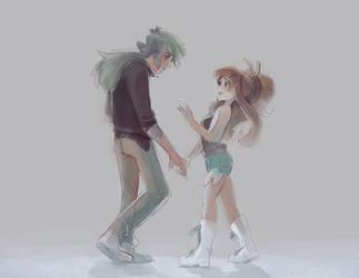 Pokemon BW - Dancing by papelmarfil