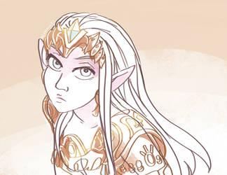 Zelda Twilight Princess by papelmarfil
