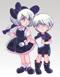 Nier: Automata - Android Children by papelmarfil