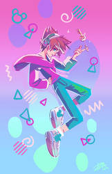 Kingdom Hearts - Sora! Just Keep On Dancing by papelmarfil