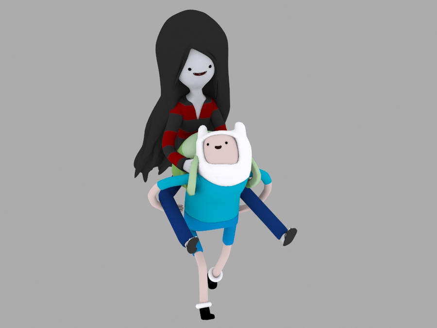Marceline and Finn by Xcommand