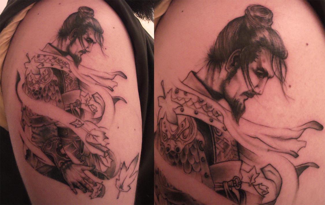 Samurai tattoo by tordah on deviantart for Tattoo donne guerriere