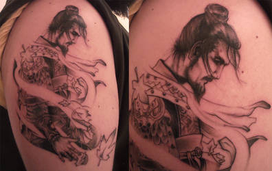 samurai tattoo by tordah