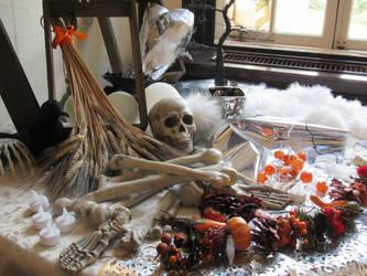 Halloween Display of Skulls by ettan2017