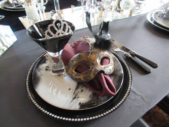 Table settings of the Masquerade by ettan2017