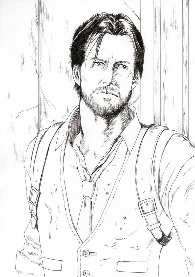 Sebastian Castellanos Line drawing by ettan2017