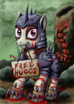Rampage providing free huggs