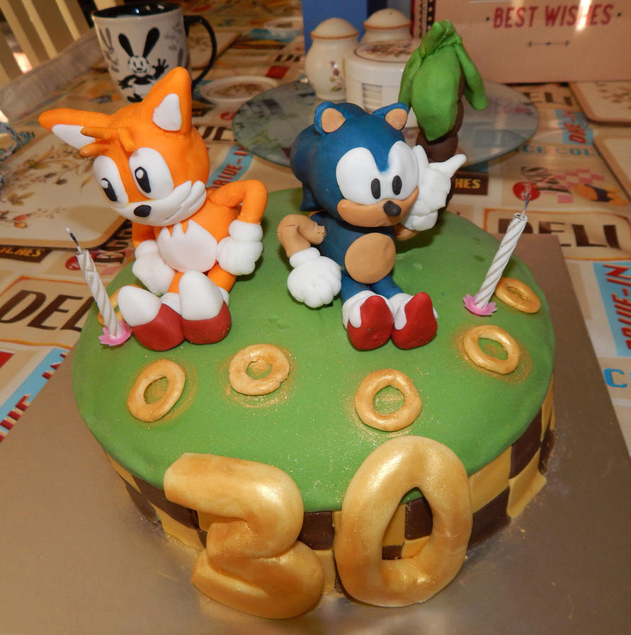 Sonic Tails Birthday Cake By Mabletherabbid On Deviantart