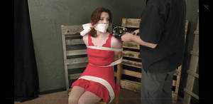 red girl gagged