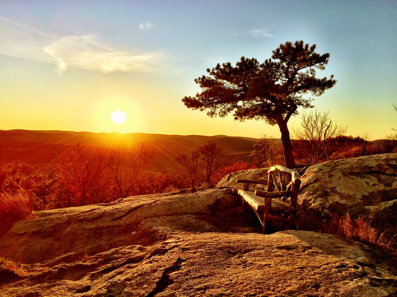Sunset at Bear Mountain by DiMiles