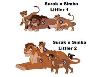 Simba x Surak Littlers - OPEN - (4/6) by The-Golden-Tigress