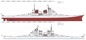 Battleship UNS Liberty | short hull
