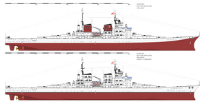 Battleship UNS Liberty   short hull