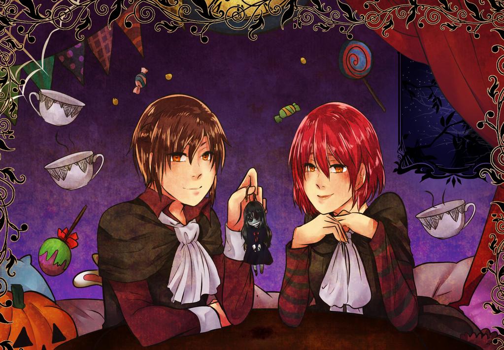 Trick and treat Miyoi and Nuru. by marceline23marshall