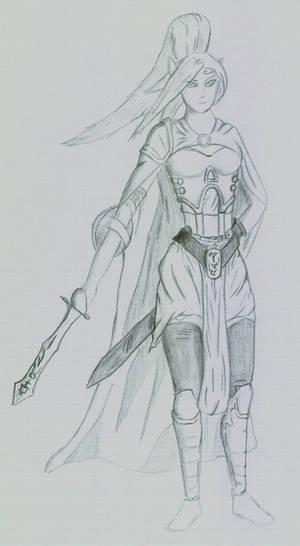 Random female elf warrior by Corvash