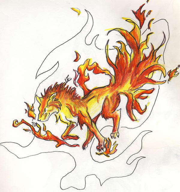Element wolves: Fire by Wolfsong12 on DeviantArt