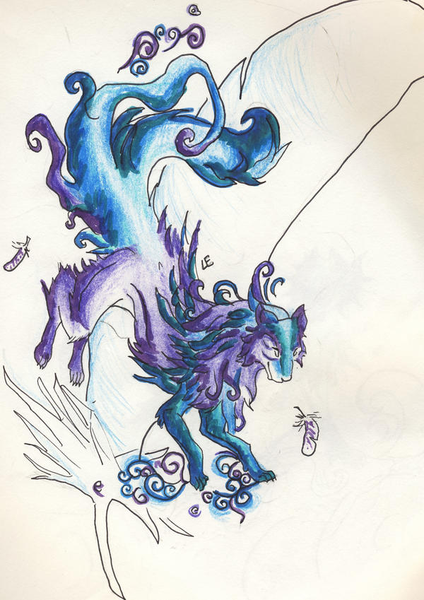 Images of Elemental Wolves Air - #SpaceHero