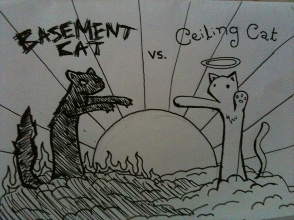 Ceiling Cat vs Basement Cat by NinjaTaf ... & Ceiling Cat vs Basement Cat by NinjaTaf on DeviantArt